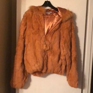 Jackets & Coats - Rabbit fur coat and gloves